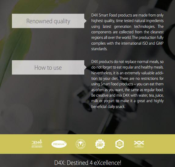 D4X Conclusion smart food Vision